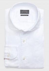 Leinen Casual Hemd Weiß