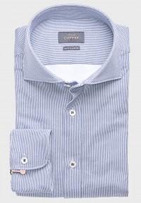 Jersey Hemd Streifen Blau