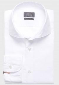 Dobby Hemd Cotton weiß