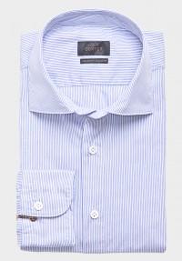 TwoPly Streifen Hemd Hellblau