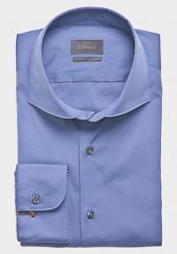 STRETCH Hemd Mittelblau