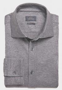 Jersey Hemd Graumélange