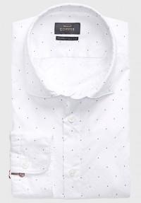 Jacquard Hemd Weiß