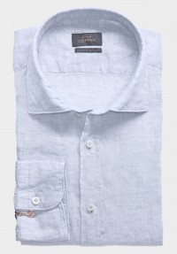 Leinen Sommer Hemd Silbergrau