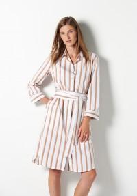 Baumwoll Kleid mit Streifen