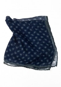 POCHETTE DENIM DOTS