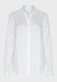 Leinen Bluse Weiß