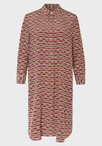 Seiden Kleid Ethno Print