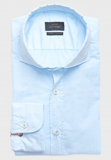 Sommer Hemd Hellblau