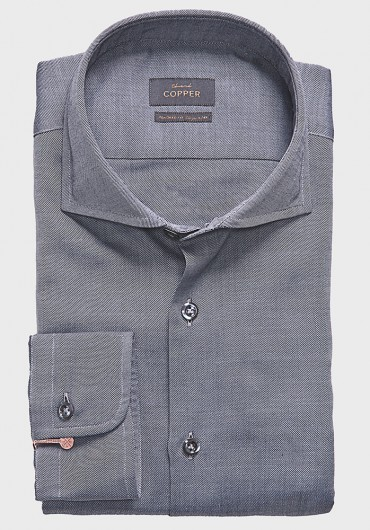 Twill Hemd mit Merinowolle