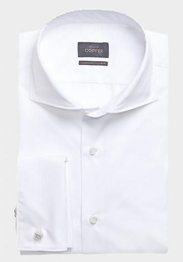 POPELIN Hemd Weiß