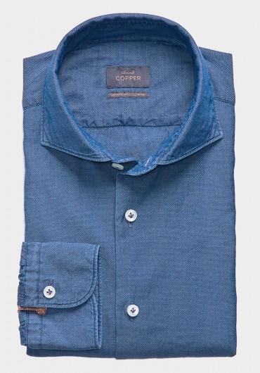 Casual Denim Hemd Blau