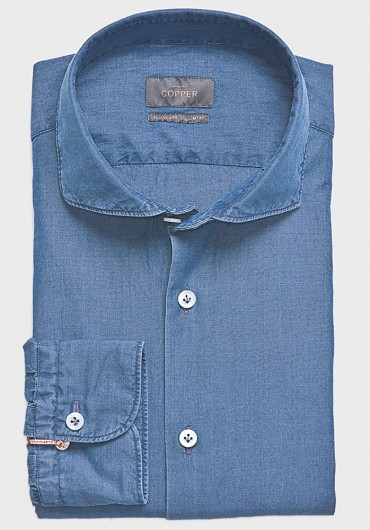 Denim Hemd Jeansblau