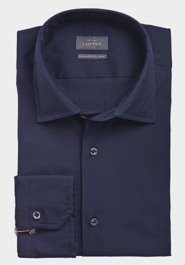 STRETCH Hemd dunkelblau