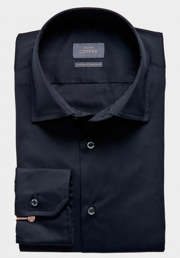 STRETCH Hemd schwarz