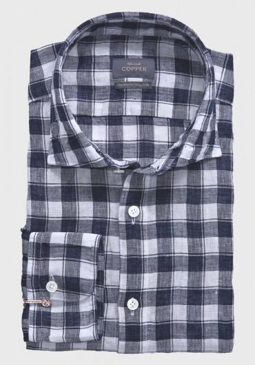 Indigo Leinen Hemd