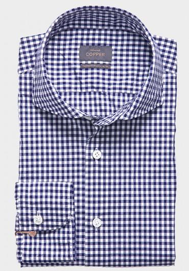 Vichy Karo Hemd Blau