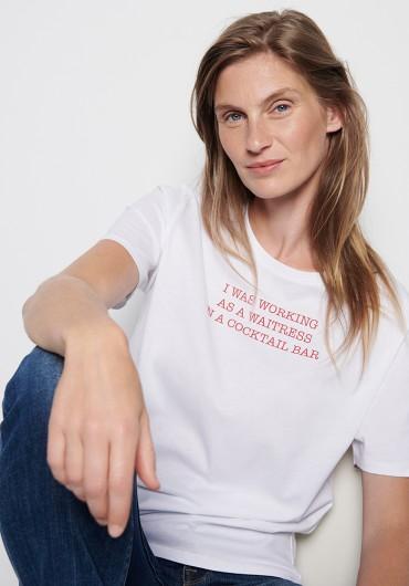 T-Shirt weiss cocktailbar
