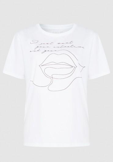 T-shirt weiss kiss